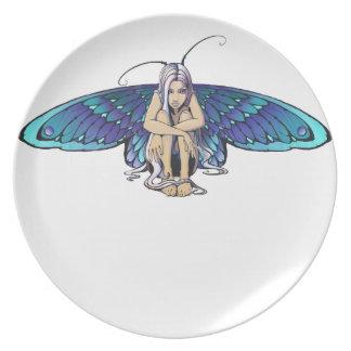 Grumpy fairy dinner plate