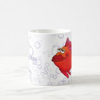 Grumpy Fish Artwork Coffee Mug