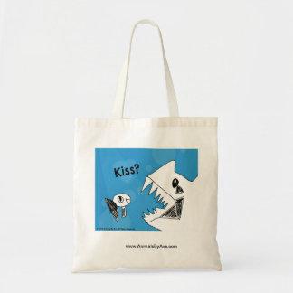 Grumpy Fish Needs a Kiss Tote Bag