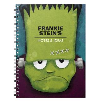 Grumpy Frankenstein's Monster Personalized Spiral Notebook