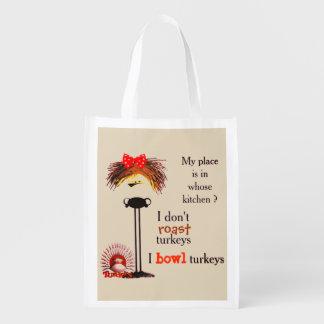 Grumpy gal bowls reusable grocery bag