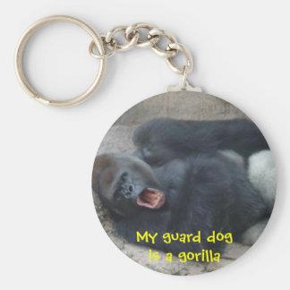 Grumpy Gorilla Basic Round Button Keychain