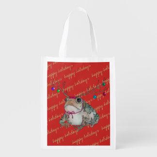 Grumpy Happy Holiday Toad tote
