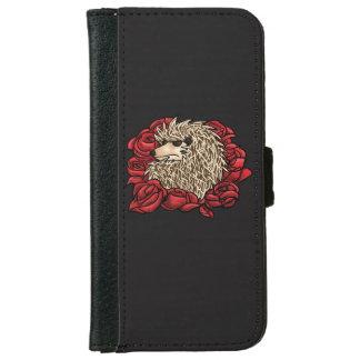 Grumpy Hedgehog iPhone Wallet