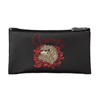 Grumpy Hedgehog Small Cosmetic Bag