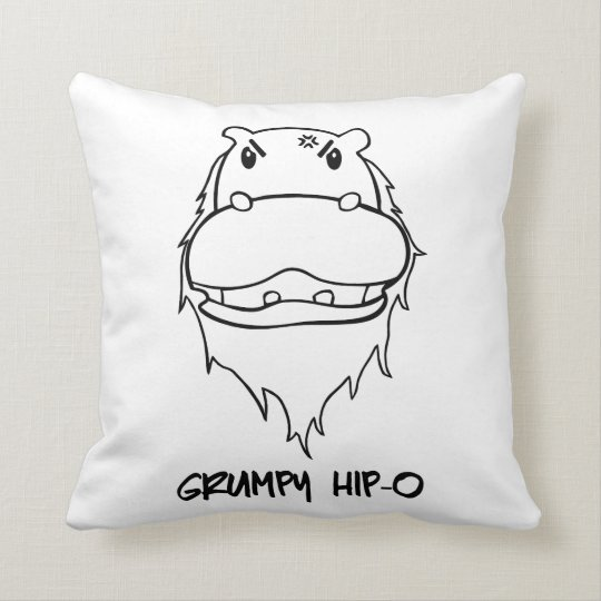 Grumpy Hip-O Throw Pillow
