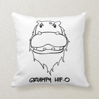 Grumpy Hip-O Throw Pillow