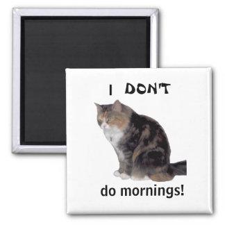 Grumpy Kitty Morning Magnet