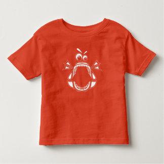 Grumpy Megalodon Toddler T-Shirt (White Print)