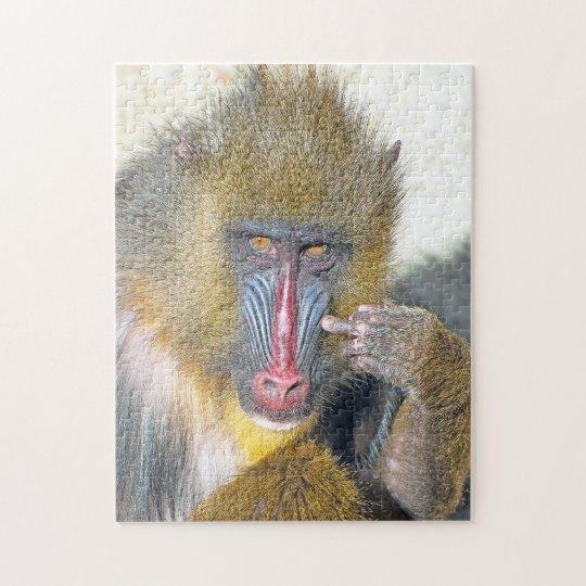 Grumpy Monkey     11x14 Photo Puzzle with Gift Box
