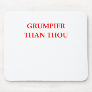 grumpy mouse pad