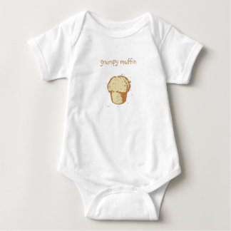 """grumpy muffin"" baby baby bodysuit"
