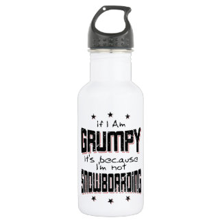 GRUMPY not SNOWBOARDING (blk) 532 Ml Water Bottle