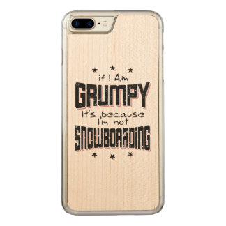 GRUMPY not SNOWBOARDING (blk) Carved iPhone 8 Plus/7 Plus Case