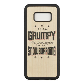 GRUMPY not SNOWBOARDING (blk) Carved Samsung Galaxy S8 Case