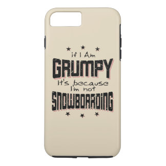 GRUMPY not SNOWBOARDING (blk) Case-Mate iPhone Case