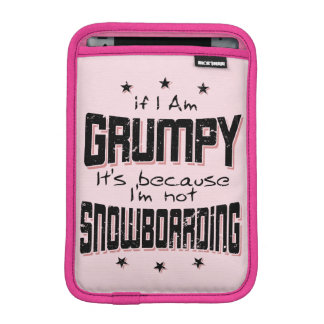 GRUMPY not SNOWBOARDING (blk) iPad Mini Sleeve