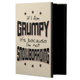 GRUMPY not SNOWBOARDING (blk) Powis iPad Air 2 Case