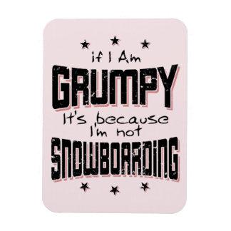 GRUMPY not SNOWBOARDING (blk) Rectangular Photo Magnet