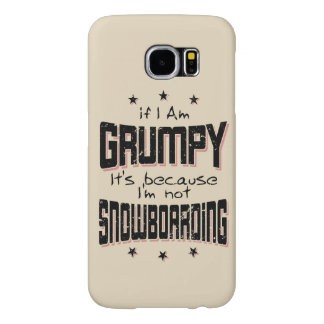 GRUMPY not SNOWBOARDING (blk) Samsung Galaxy S6 Cases