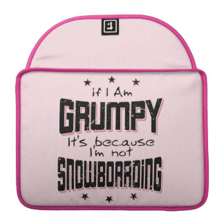 GRUMPY not SNOWBOARDING (blk) Sleeve For MacBook Pro