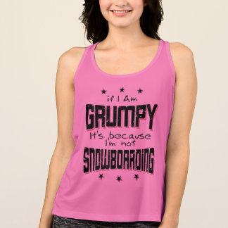 GRUMPY not SNOWBOARDING (blk) Tank Top
