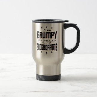 GRUMPY not SNOWBOARDING (blk) Travel Mug