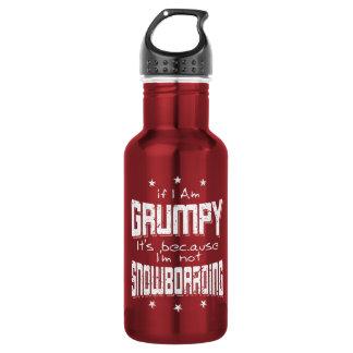 GRUMPY not SNOWBOARDING (wht)