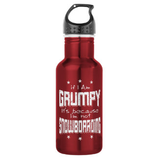 GRUMPY not SNOWBOARDING (wht) 532 Ml Water Bottle