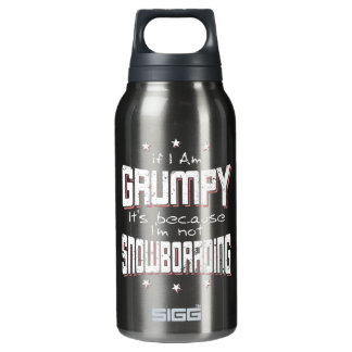 GRUMPY not SNOWBOARDING (wht) Insulated Water Bottle