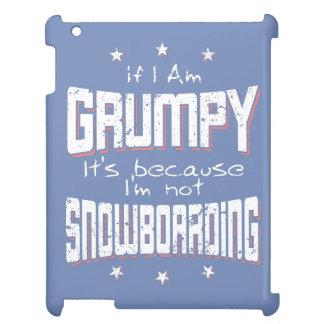 GRUMPY not SNOWBOARDING (wht) iPad Case