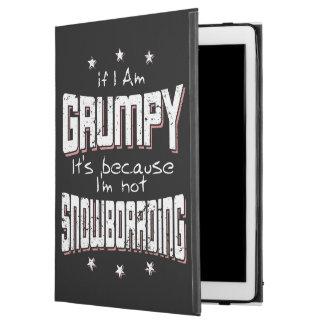 "GRUMPY not SNOWBOARDING (wht) iPad Pro 12.9"" Case"