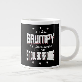 GRUMPY not SNOWBOARDING (wht) Large Coffee Mug