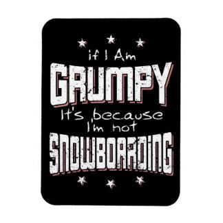 GRUMPY not SNOWBOARDING (wht) Rectangular Photo Magnet