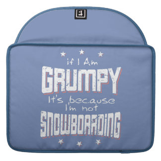GRUMPY not SNOWBOARDING (wht) Sleeve For MacBooks