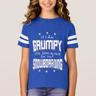 GRUMPY not SNOWBOARDING (wht) T-Shirt