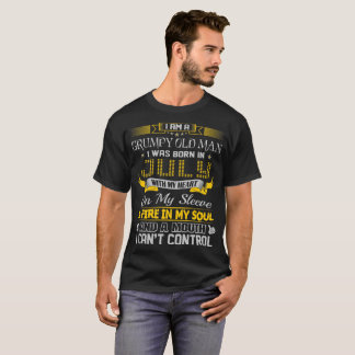 Grumpy Old Man Born In July With Heart On Sleeve T-Shirt