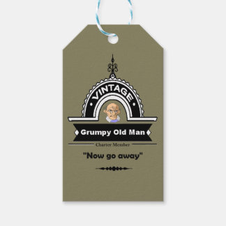 "Grumpy Old Man Club Fun ""Over the Hill"" Pack Of Gift Tags"