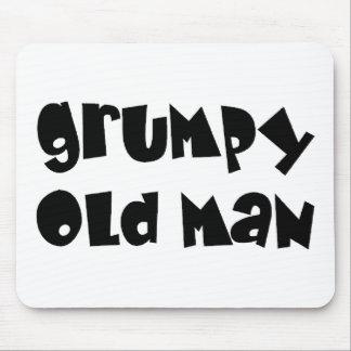 Grumpy old man mouse pad