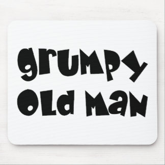Grumpy old man mouse pad