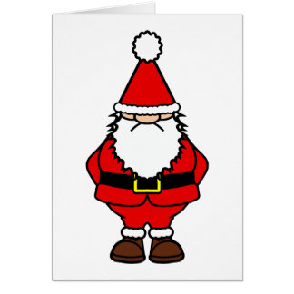 Grumpy Old Santa Card