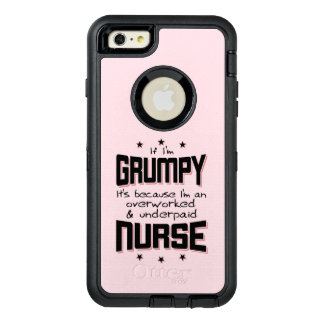 GRUMPY overworked underpaid NURSE (blk) OtterBox Defender iPhone Case