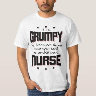 GRUMPY overworked underpaid NURSE (blk) T-Shirt