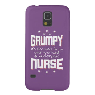 GRUMPY overworked underpaid NURSE (wht) Galaxy S5 Case