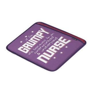 GRUMPY overworked underpaid NURSE (wht) Sleeve For MacBook Air