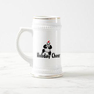 Grumpy Panda Bear Holiday Cheer Stein