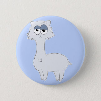 Grumpy Persian Cat Llama 2 Inch Round Button