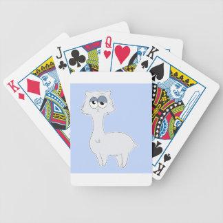 Grumpy Persian Cat Llama Bicycle Playing Cards