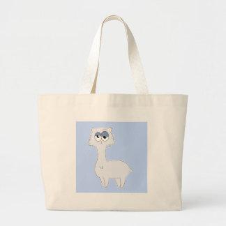 Grumpy Persian Cat Llama Large Tote Bag