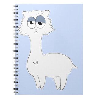 Grumpy Persian Cat Llama Spiral Notebook